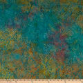 Island Batik Fur-ocious Friends Snake Skin Teal