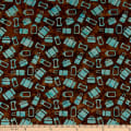 Island Batik Globetrotter Luggage Toss Brownie