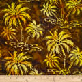 Batik by Mirah Bonanza Palm Trees Island Brown
