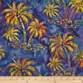 Batik by Mirah Bonanza Palm Trees Carribba Blue