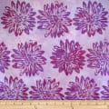 Batik by Mirah Flamenco Florals Sheer Purple