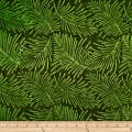 Batik by Mirah Herbiage Palm Leaves Very Moss Green