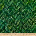 Batik by Mirah Peapod Crosshatches Vibrante Green