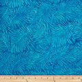 Batik by Mirah Pop Up Palm Leaves Aqua Dance Blue