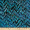 Batik by Mirah Pop Up Crosshatches Entrance Blue