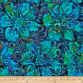 Batik by Mirah Pop Up Florals Reef Blue