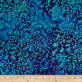 Batik by Mirah Blue Chase Vines Molten Blue