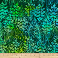 Batik by Mirah Coast to Coast Leaves Kombu Green