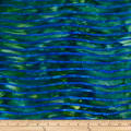 Batik by Mirah Coast to Coast Wavy Lines Wakame Green