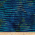 Batik by Mirah Coast to Coast Wavy Lines Cheer Blue