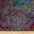 Batik by Mirah Rum Raisin Leaves Polignac Purple