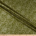 Kaufman Winter Shimmer Metallic Branches Holly