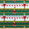 Kaufman How The Grinch Stole Christmas Stripes White