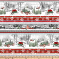 Henry Glass Holiday Homestead Winter Border Stripe Multi