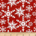 Henry Glass Holiday Homestead Snowflake Red