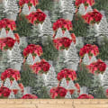 Henry Glass Holiday Homestead Poinsettias Multi