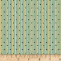 Henry Glass Sage & Sea Glass Polka Dot Ticking Stripe Blue