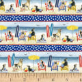 P&B Textiles Hot Dog Collection Border Multi