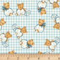 P&B Textiles Welcome Baby Teddy Bears Blue
