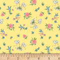P&B Textiles Welcome Baby Birds & Roses Yellow