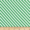 Michael Miller Home For The Holidays Sugar Stripe Evergreen