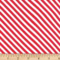 Michael Miller Home For The Holidays Sugar Stripe Peppermint