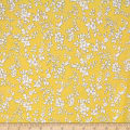 Telio Playtime Cotton Poplin Floral Lemon