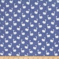 Telio Denim Cotton Print Whale Blue