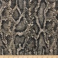 Telio Knit Knack Brushed Sweater Knit Snake Print Brown
