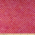 Island Batik Check It Out Check Raspberry