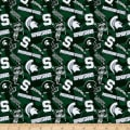NCAA- Michigan State 1178 Tone on Tone Dark Green/White