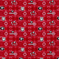 NCAA Georgia Tye Dye Flannel Red White and Black
