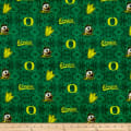 NCAA- Oregon 1191 Tye Dye Flannel Green/Yellow