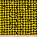 NCAA Iowa Flannel Check Black/Yellow