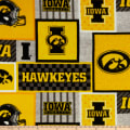 NCAA-Iowa 1177 Patch Fleece
