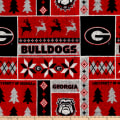 NCAA Georgia Ugly Sweater Fleece