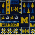 NCAA Michigan Wolverines 1182 Ugly Sweater Fleece