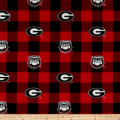 NCAA Georgia Buffalo Plaid Fleece