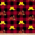 NCAA Minnesota Buffalo Plaid Fleece