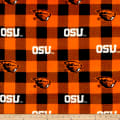 NCAA Oregon State Buffalo Plaid Fleece