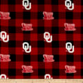 NCAA Oklahoma Buffalo Plaid Fleece