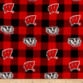 NCAA-Wisconsin 1190 Buffalo Plaid Fleece