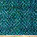 Wilmington Batiks Chevron Blue/Green