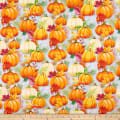 Wilmington Happy Gatherings Pumpkin Allover Gray