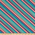 Wilmington Gone Glamping! Diagonal Stripe Teal