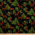 Wilmington Festive Forest Large Allover Black