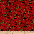 Wilmington Festive Forest Poinsettia Black