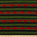 Wilmington Festive Forest Ticking Stripe Green