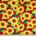 Wilmington Jardin Du Soleil Sunflower Patchwork Black