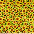 Wilmington Jardin Du Soleil Sunflower Allover Black